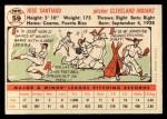 1956 Topps #59  Jose Santiago  Back Thumbnail