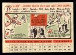 1956 Topps #35   Al Rosen Back Thumbnail