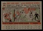 1956 Topps #51  Ernie Oravetz  Back Thumbnail