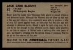 1952 Bowman Small #80   John Blount Back Thumbnail