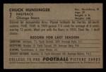 1952 Bowman Small #7  Chuck Hunsinger  Back Thumbnail