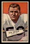 1952 Bowman Small #22  Ken Snyder  Front Thumbnail