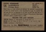 1952 Bowman Small #126  Steve Romanik  Back Thumbnail