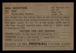 1952 Bowman Small #21   Bill Howton Back Thumbnail
