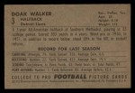 1952 Bowman Small #3   Doak Walker Back Thumbnail
