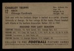 1952 Bowman Small #12  Charley Trippi  Back Thumbnail