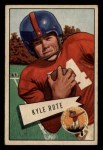1952 Bowman Small #28  Kyle Rote  Front Thumbnail