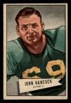 1952 Bowman Small #36   John Hancock Front Thumbnail