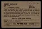 1952 Bowman Small #82  Harry Minarik  Back Thumbnail