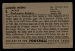 1952 Bowman Small #6   Laurie Niemi Back Thumbnail