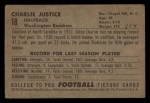 1952 Bowman Small #18   Charlie Justice Back Thumbnail