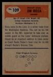 1955 Bowman #109  Jim Ricca  Back Thumbnail