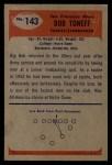 1955 Bowman #143  Bob Toneff  Back Thumbnail