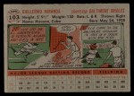 1956 Topps #103   Willie Miranda Back Thumbnail