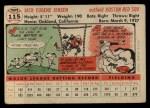 1956 Topps #115  Jackie Jensen  Back Thumbnail