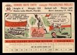 1956 #60  Mayo Smith  Back Thumbnail