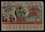1956 Topps #187   Early Wynn Back Thumbnail