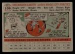 1956 Topps #109   Enos Slaughter Back Thumbnail