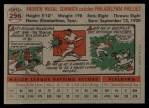 1956 Topps #296   Andy Seminick Back Thumbnail