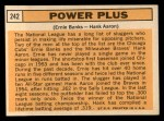 1963 Topps #242  Power Plus   -  Ernie Banks / Hank Aaron Back Thumbnail