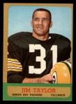 1963 Topps #87   Jim Taylor Front Thumbnail