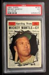 1961 Topps #578  All-Star  -  Mickey Mantle Front Thumbnail
