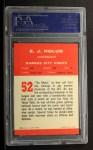1963 Fleer #52  EJ Holub  Back Thumbnail