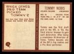 1967 Philadelphia #7  Tommy Nobis   Back Thumbnail