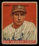 1933 Goudey #4   Heinie Schuble Front Thumbnail