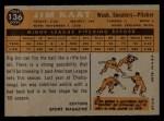 1960 Topps #136  Rookie Stars  -  Jim Kaat Back Thumbnail