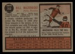 1962 Topps #353  Bill Mazeroski  Back Thumbnail