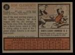 1962 Topps #10  Roberto Clemente  Back Thumbnail