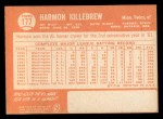 1964 Topps #177   Harmon Killebrew Back Thumbnail