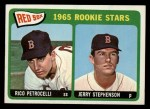 1965 Topps #74   Red Sox Rookie Stars  -  Rico Petrocelli / Jerry Stephenson Front Thumbnail