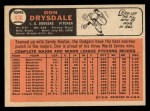 1966 Topps #430  Don Drysdale  Back Thumbnail
