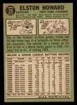 1967 Topps #25   Elston Howard Back Thumbnail