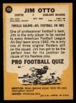 1967 Topps #105  Jim Otto  Back Thumbnail