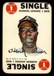 1968 Topps Game Inserts #4   Hank Aaron   Front Thumbnail