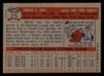 1957 Topps #25  Whitey Ford  Back Thumbnail