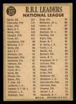 1967 Topps #242  1966 NL RBI Leaders  -  Hank Aaron / Dick Allen / Roberto Bob Clemente Back Thumbnail