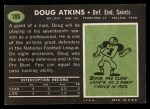 1969 Topps #105   Doug Atkins Back Thumbnail