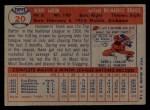 1957 Topps #20  Hank Aaron  Back Thumbnail
