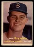 1957 Topps #18  Don Drysdale  Front Thumbnail