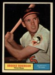 1961 Topps #10  Brooks Robinson  Front Thumbnail