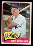1965 Topps #115   Bobby Richardson Front Thumbnail