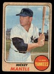 1968 Topps #280  Mickey Mantle  Front Thumbnail