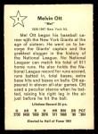 1961 Golden Press #1   Mel Ott    Back Thumbnail