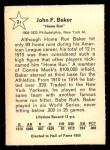 1961 Golden Press #21  Home Run Baker  Back Thumbnail