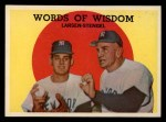 1959 Topps #383  Words of Wisdom  -  Casey Stengel / Don Larson Front Thumbnail