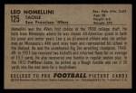 1952 Bowman Small #125   Leo Nomellini Back Thumbnail